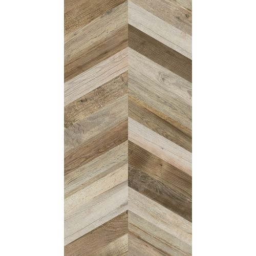 Плитка CHEVRON DOCK BROWN RECT 1200x600
