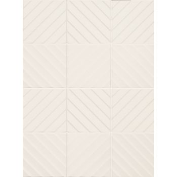 Плитка E062 4D DIAGONAL WHITE MATT 20 200x200